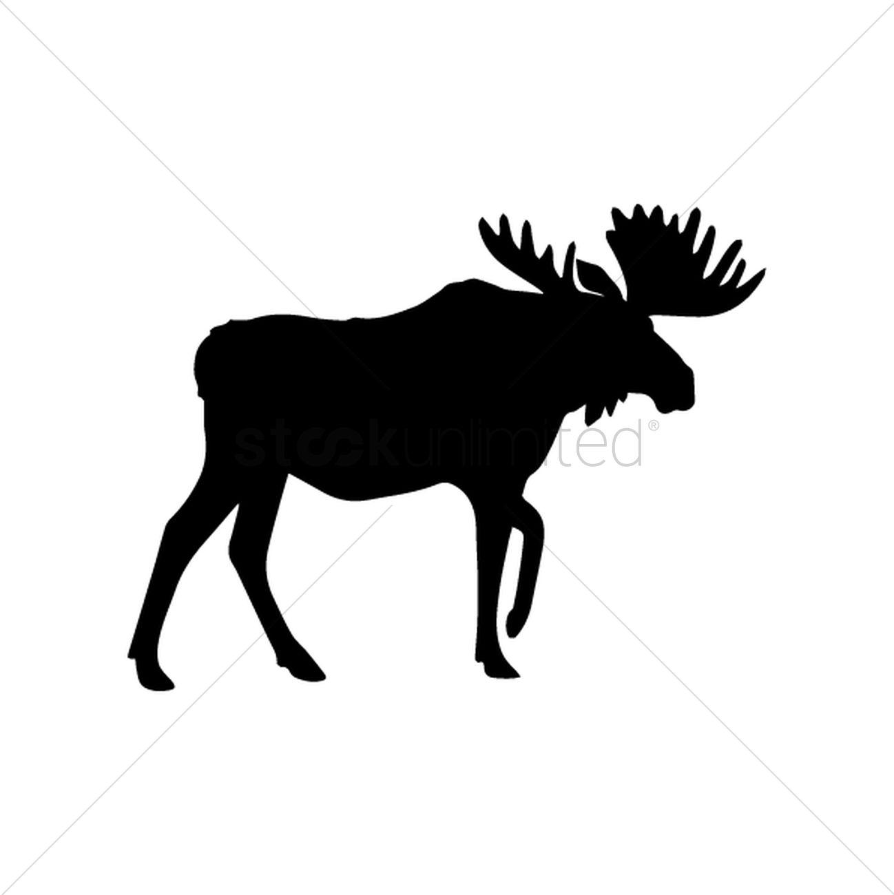 1298x1300 Moose Vector Image