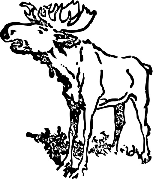 510x596 Moose Clip Art Free Vector In Open Office Drawing Svg ( Svg