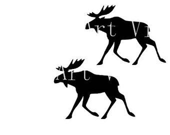 340x270 Moose Cut File Etsy
