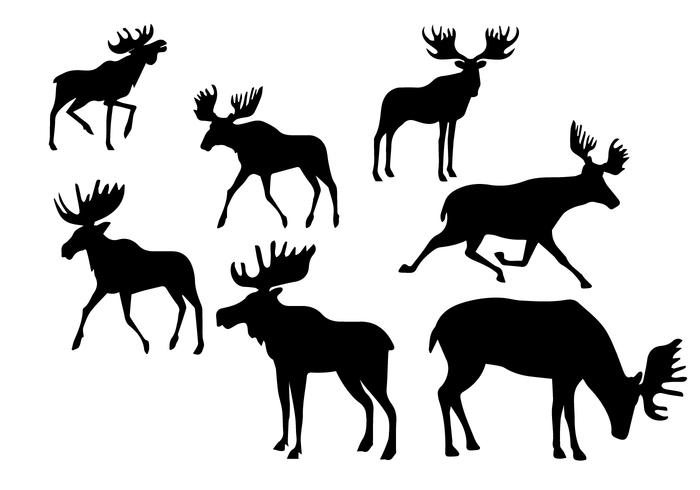 700x490 Silhouette Caribou Set