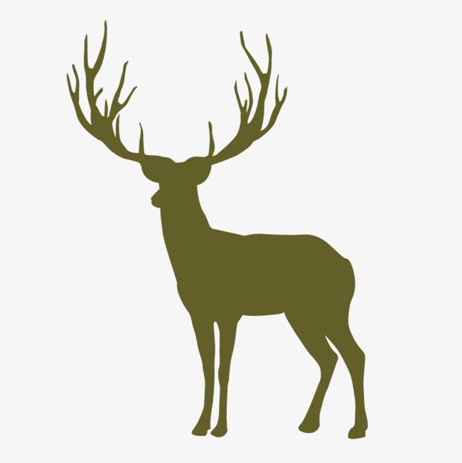 650x651 Vector Cartoon Moose Silhouette, Elk, Cartoon, Vector Png
