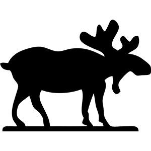 300x300 Moose Sihouette Clipart, Cliparts Of Moose Sihouette Free Download