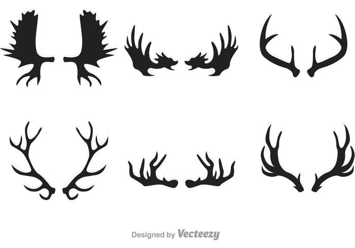 700x490 Deer And Moose Horn Vectors