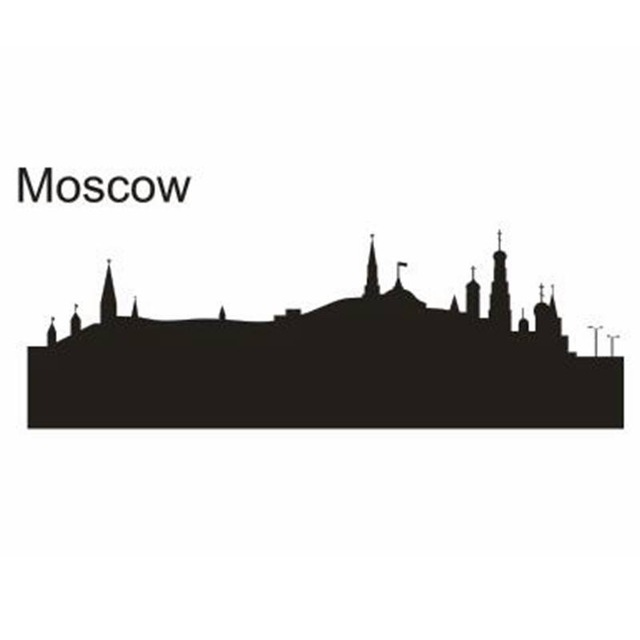 Moscow Skyline Silhouette