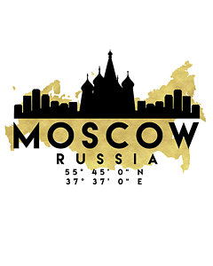 240x300 Moscow Map Art