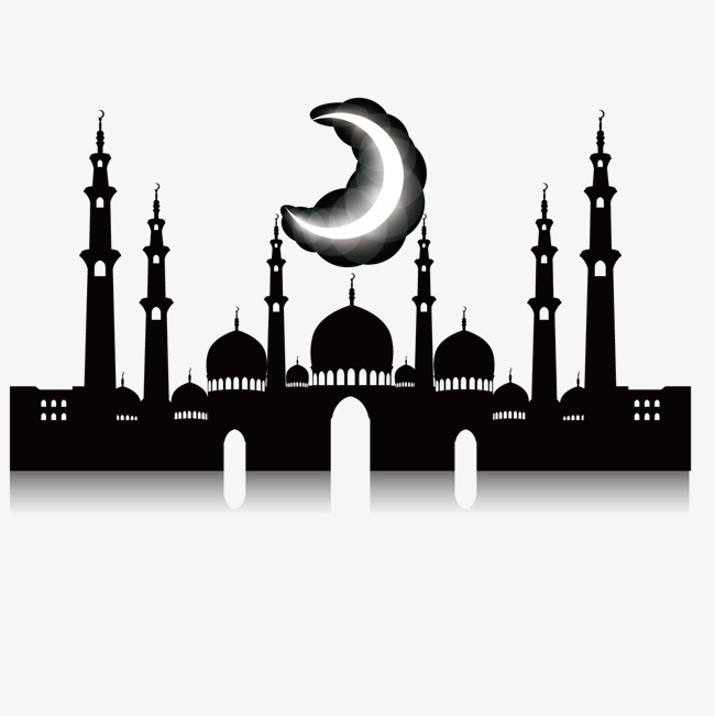 650x651 Night Mosque, Islamic Architecture Silhouette, Mosque, Night