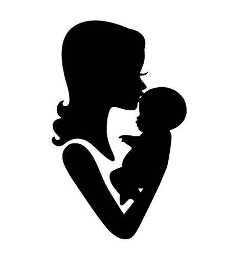 479x497 1 Cut Out Silhouette Mom And Baby Kisses