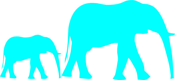mother and baby elephant silhouette at getdrawings com free for