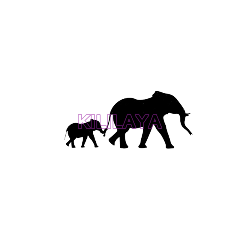 800x800 Mother And Baby Elephant Wall Sticker For Powerpoints And Light