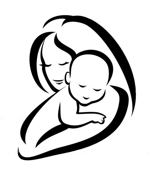 500x569 And Baby Silhouette Tattoo Design