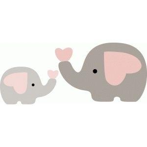 300x300 Baby Elephant Silhouette Clip Art