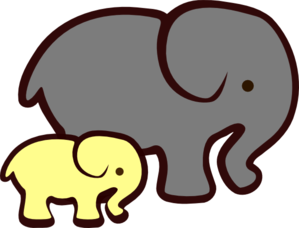 299x228 Baby Elephant Linked With Mom Clipart Collection