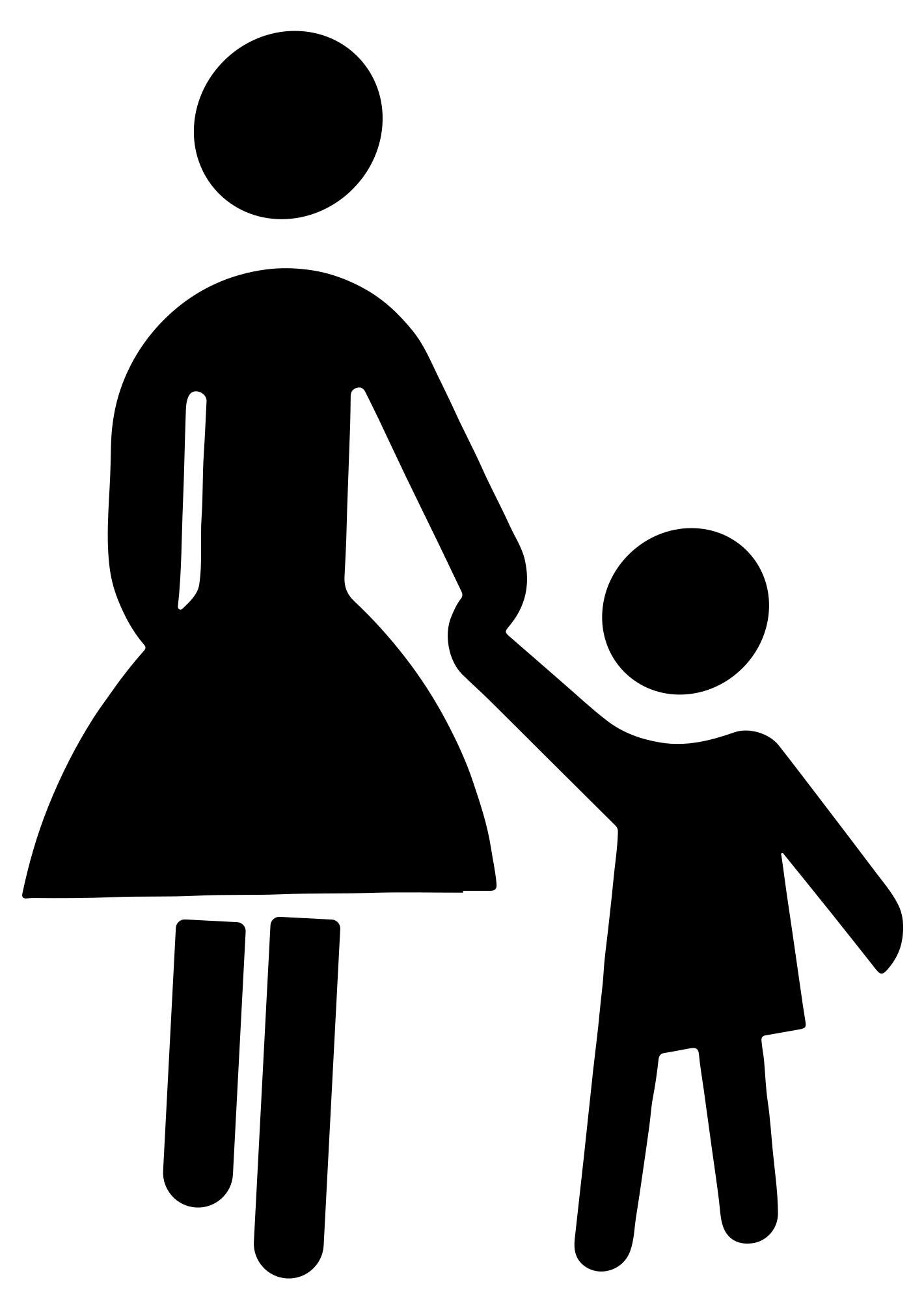 1420x2010 Mother And Child Holding Hands Silhouette Clipart
