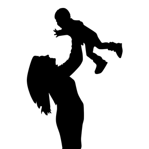 300x300 Mother And Son Silhouette 2 Clipart, Cliparts Of Mother And Son