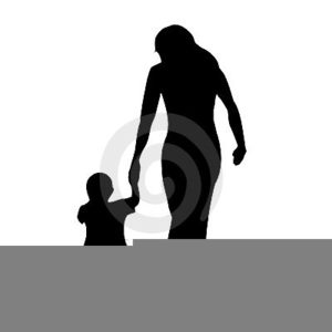 300x300 Mother Child Silhouette Clipart Free Images