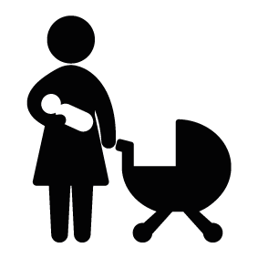 283x283 Mother With Baby Silhouette Silhouette Of Mother With Baby
