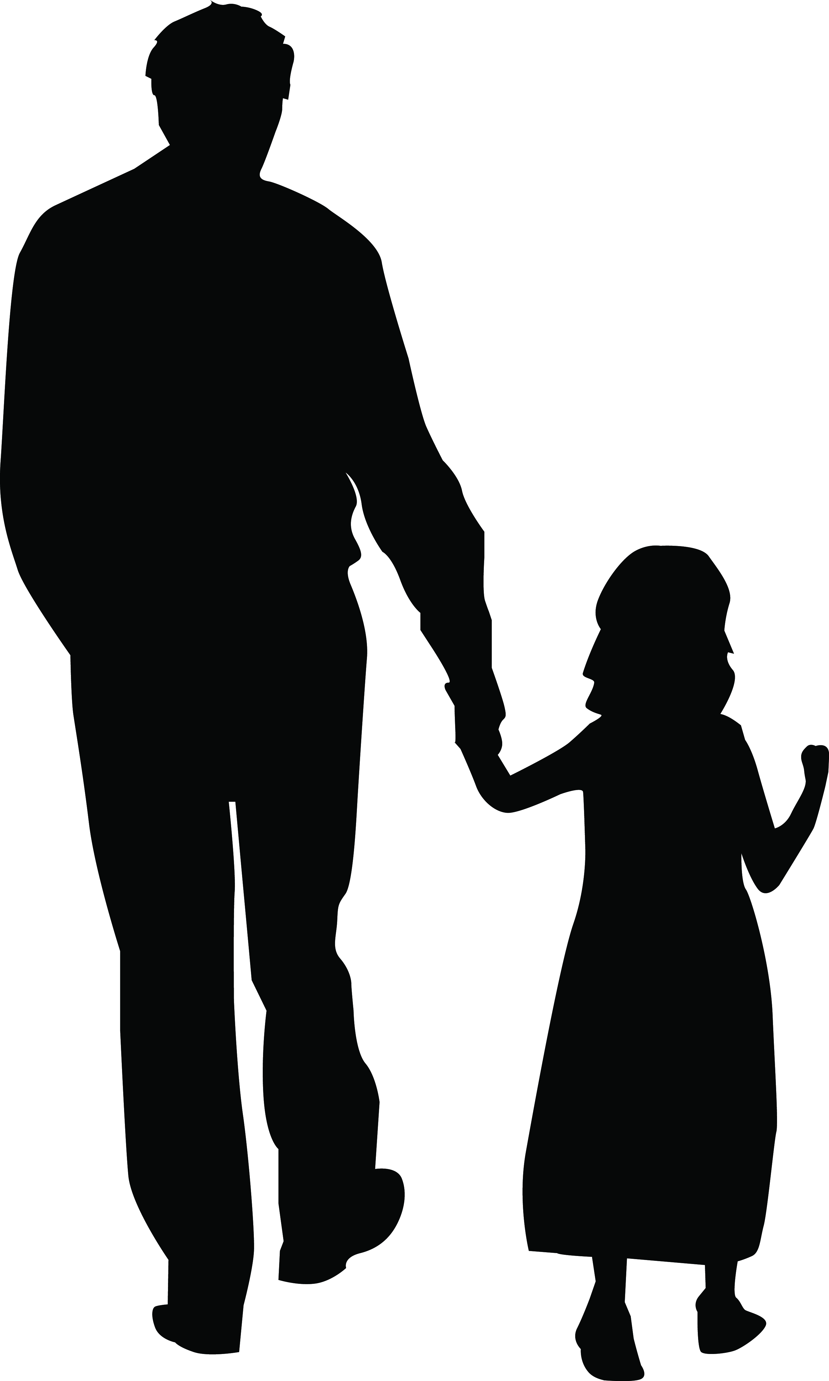 2887x4805 Free Clipart Of Mother Holding Kids Hands Collection