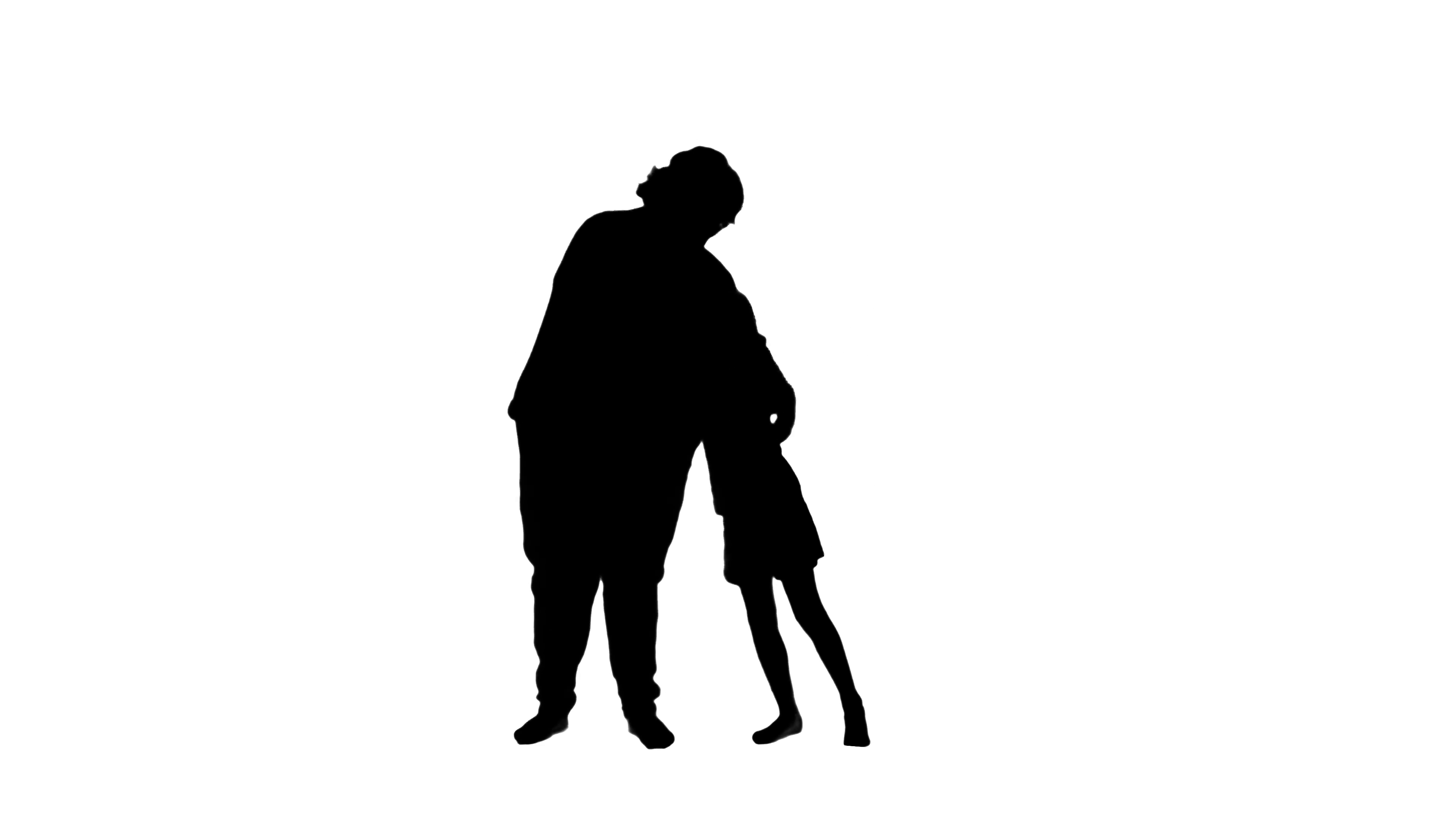 3840x2160 2313 Mother And Daughter Hugging Silhouettes, 4k Stock Video