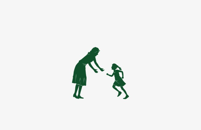 650x422 Silhouette Image Of Mother And Daughter, Mother And Daughter