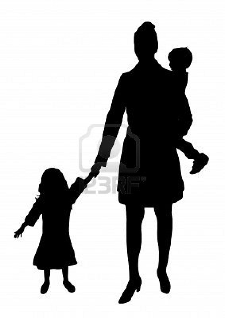 Mother And Son Silhouette