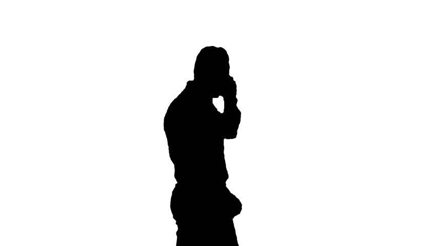 852x480 Silhouette Mother And Son Posing For Selfie Stock Footage Video