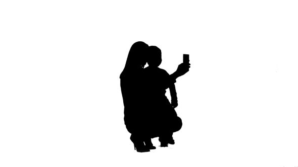 590x332 Silhouette Mother And Son Posing For Selfie By Fancystudio Videohive