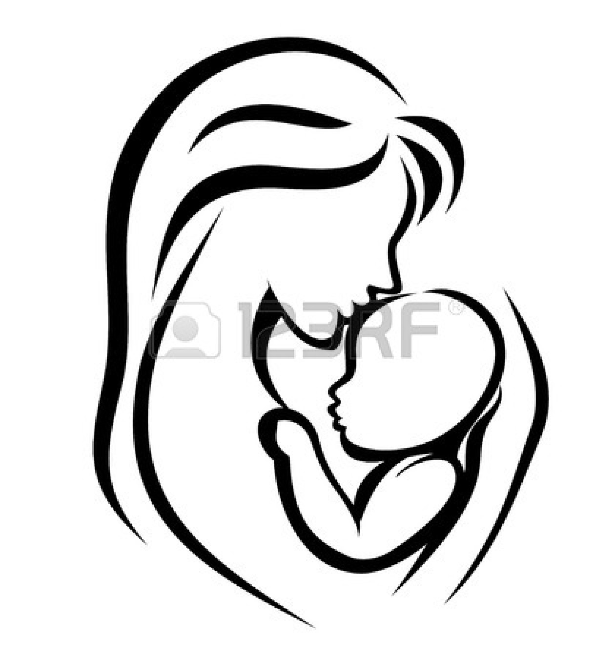 1260x1350 Mother Child Clipart