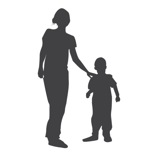 512x512 Mother And Child Silhouette