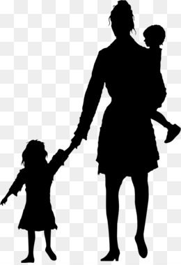 260x380 Free Download Mother Child Silhouette
