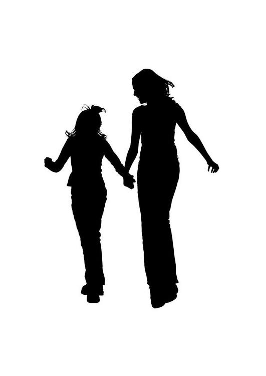 531x750 Coloring Page Mother With Daughter