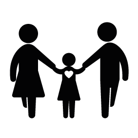 283x283 Father Mother And Daughter Silhouette Silhouette Of Father