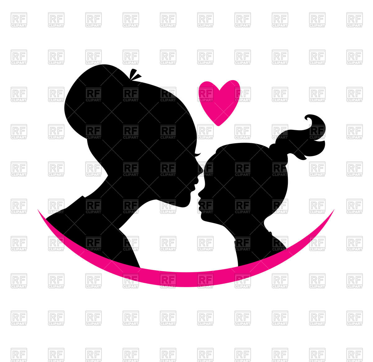 Mother Daughter Silhouette Images At GetDrawings