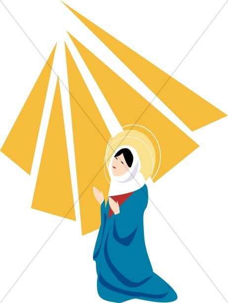 461x612 Mary Is Visited By Gabriel Virgin Mary Clipart