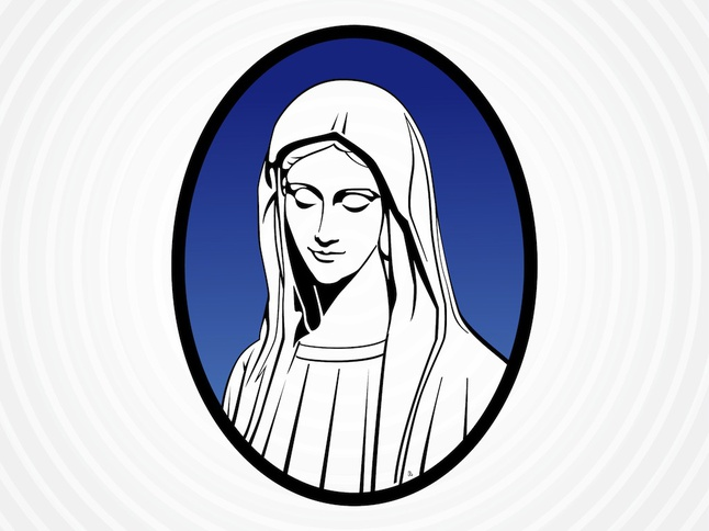 646x484 Portrait Of Mary Mother Of Jesus Vector Free Download