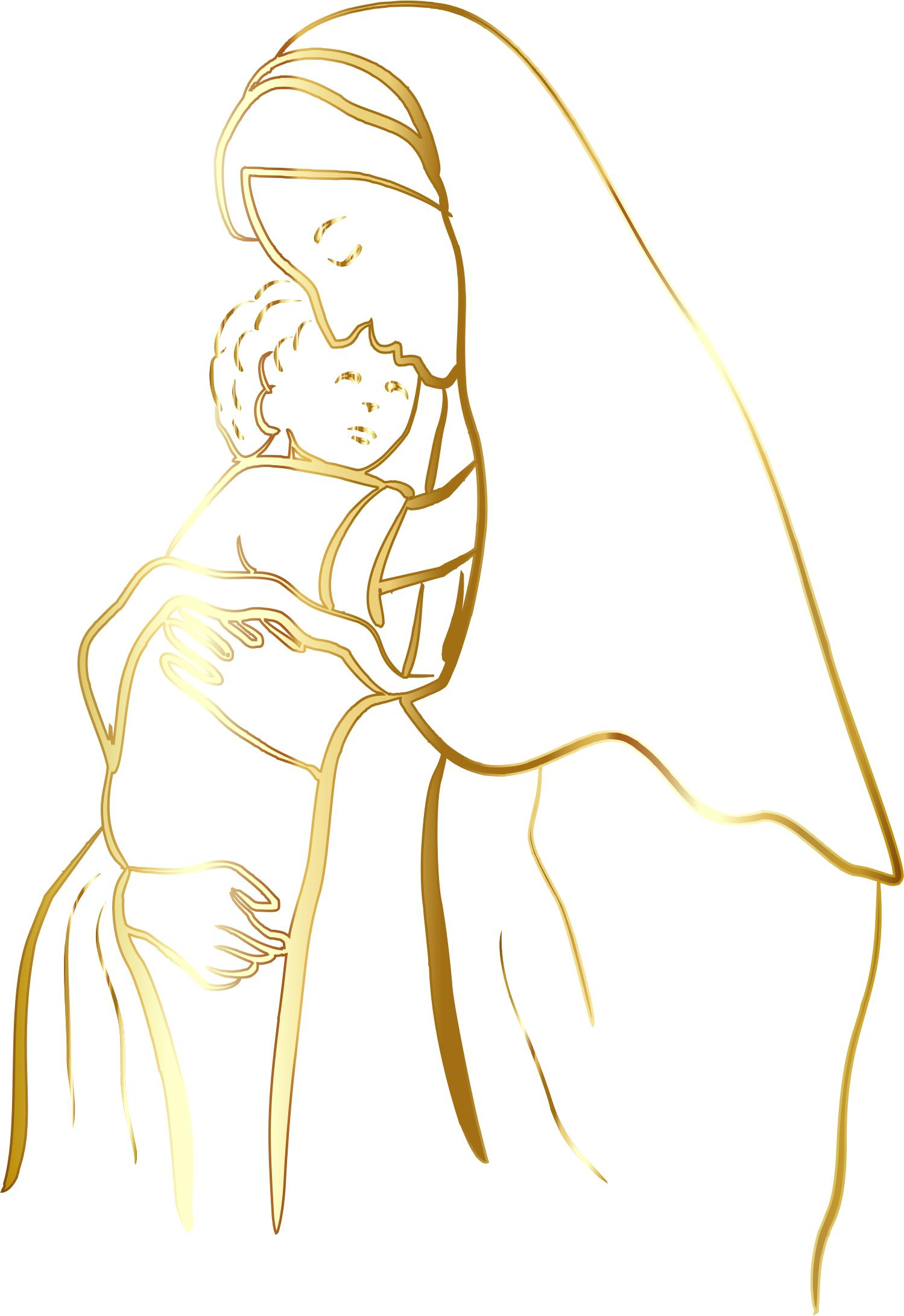 1499x2181 Virgin Mary And Baby Jesus Icons Png