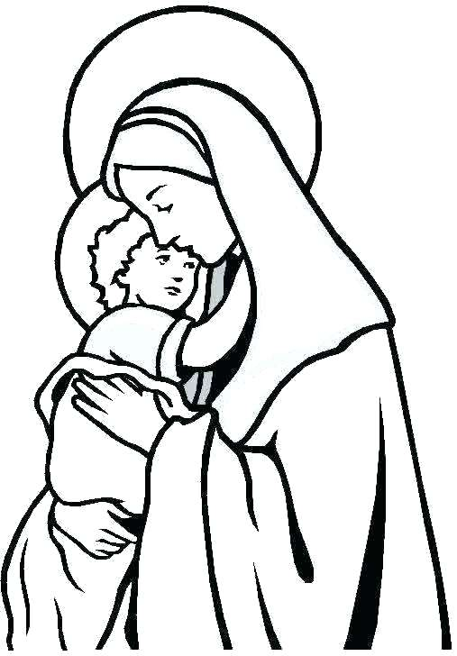 507x728 Mary Mother Jesus Picture Mother Coloring Pages Mother