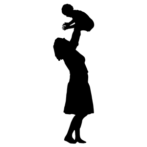 300x300 Mother Playing With Child Silhouette Clipart, Cliparts Of Mother