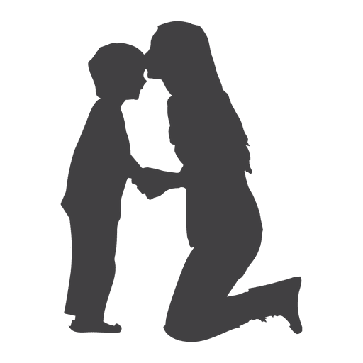 512x512 Mothers Kissing Son On Forehead Silhouette