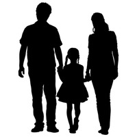 200x200 Parents Silhouette Clipart Collection
