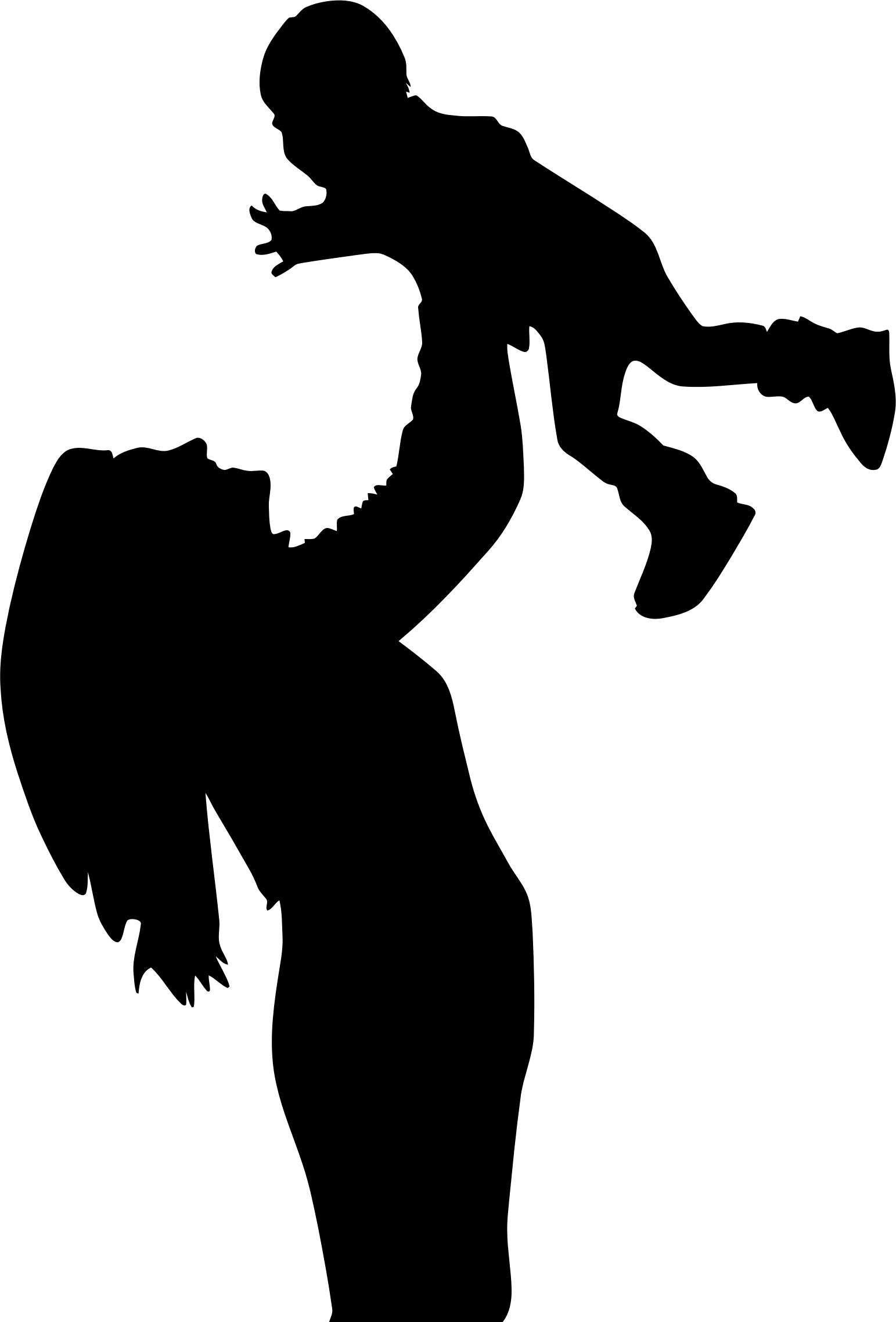 1543x2276 Mother And Son Silhouette 2 Icons Png