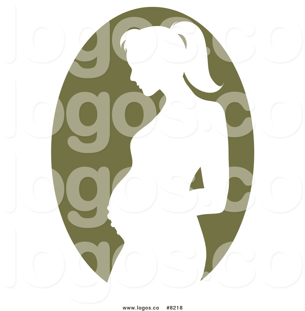1024x1044 Royalty Free Clip Art Vector Logo Of A Green Pregnant Mother
