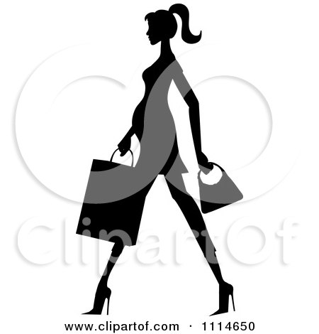 450x470 Clipart Of A Pink Silhouette Of A Pregnant Mother With Vines
