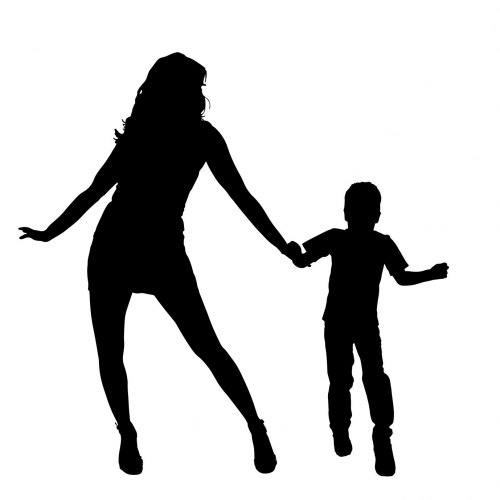 Mother Son Silhouette