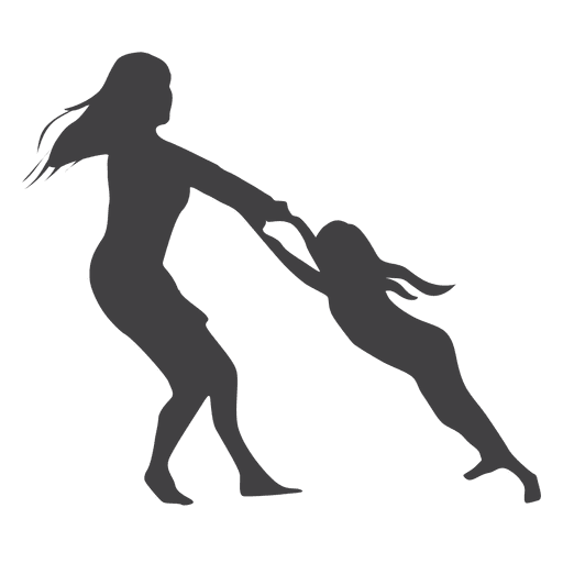 512x512 Mothers Day Silhouette Woman Playing With Kid