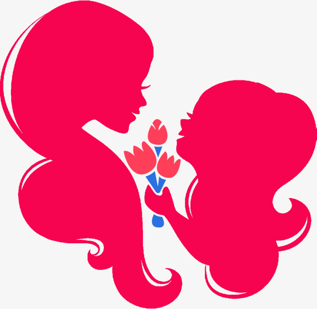 650x634 Red Mother And Child Silhouette, Motheramp 039s Day, Maternal Love