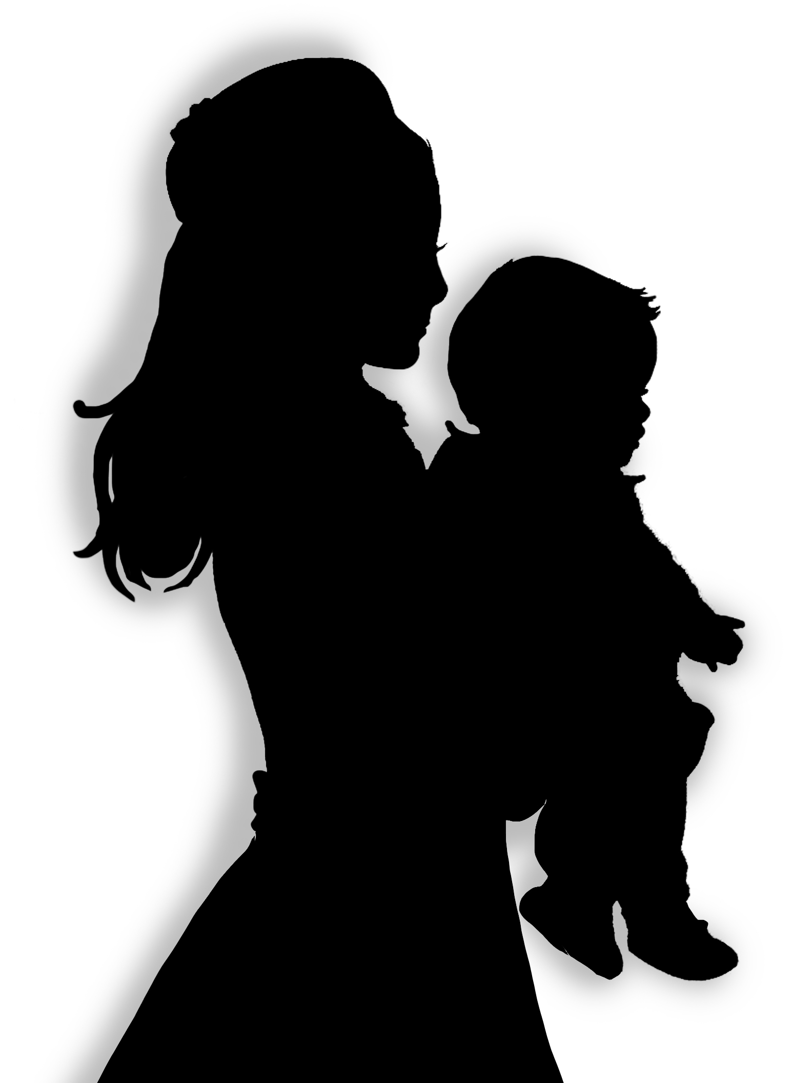 1547x2112 Mother And Son Clipart Silhouette