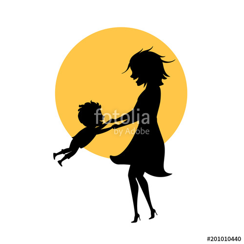500x500 Mom And Son Playing Together Isolated Vector Illustration Mothers