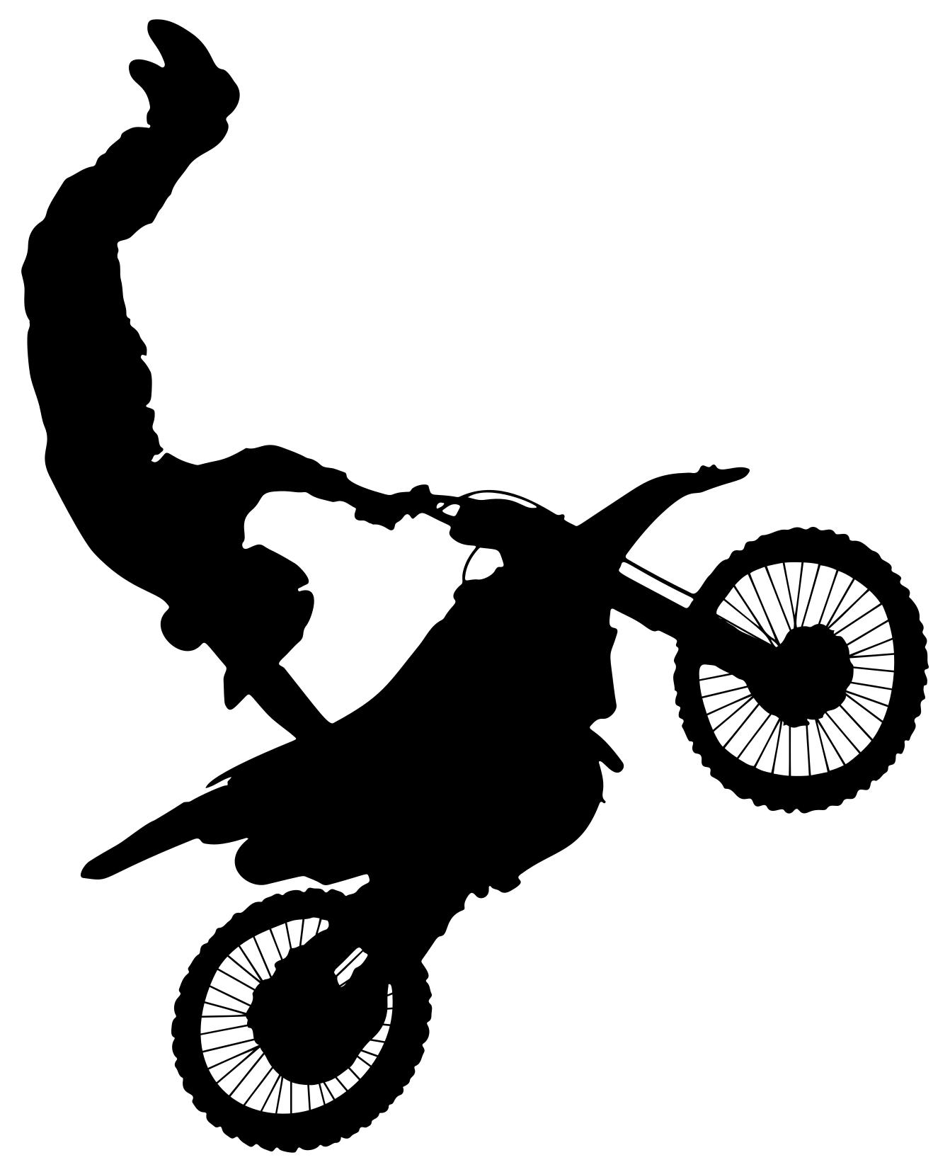 motocross silhouette at getdrawingscom free for