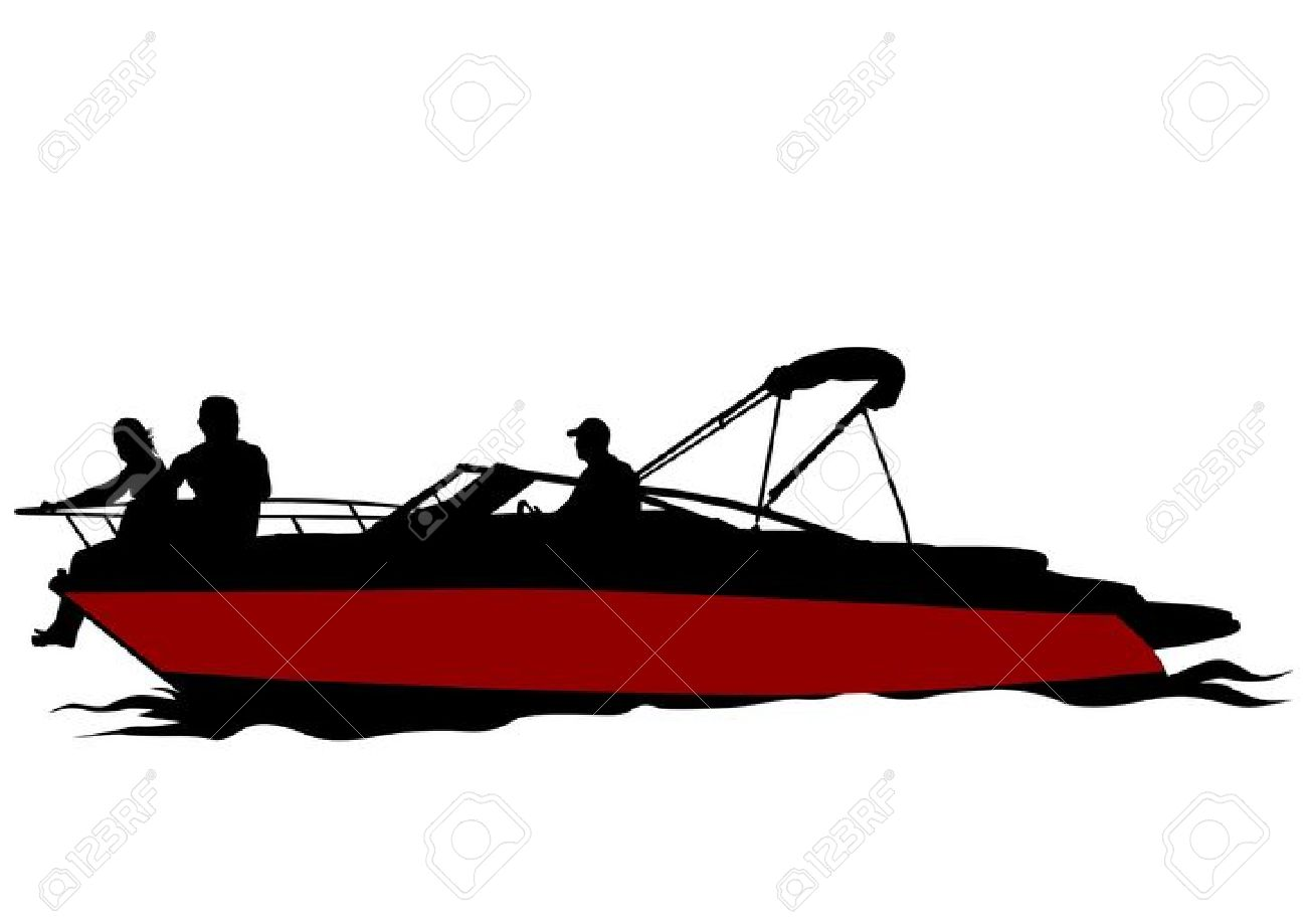 Motor Boat Silhouette at GetDrawings.com | Free for personal use ...