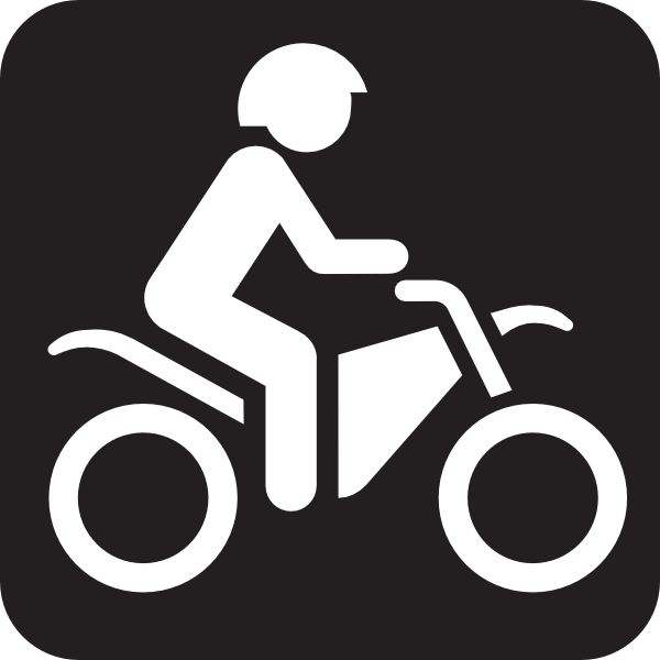 600x600 Motor Bike Trail Black Clip Art